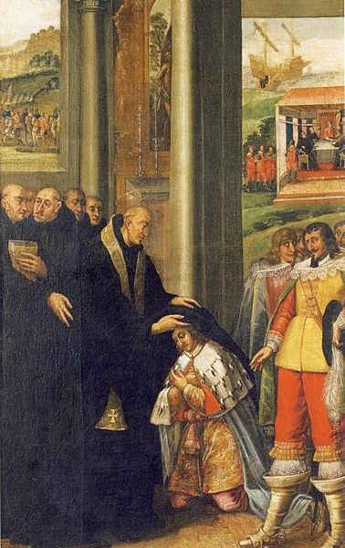 Investiture of St. Romuald, Painting by Tommaso Dolabella