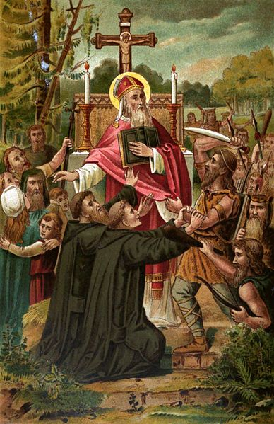 The martyrdom of St. Boniface