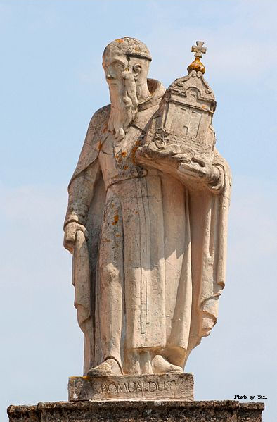 Statue of St. Romuald in Wigry, Poland.