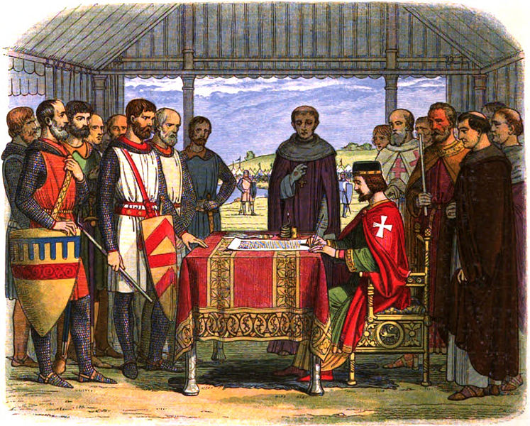 King John signs the Magna Carta by James William Edmund Doyle.