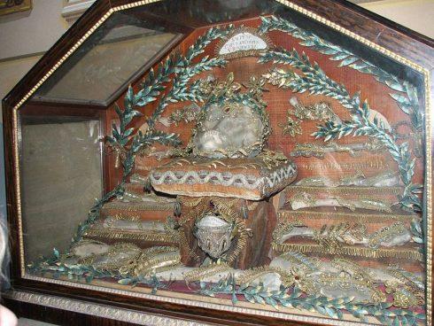 Reliquary of St. Boniface in the Estonia Esztergom Cathedral Treasury.