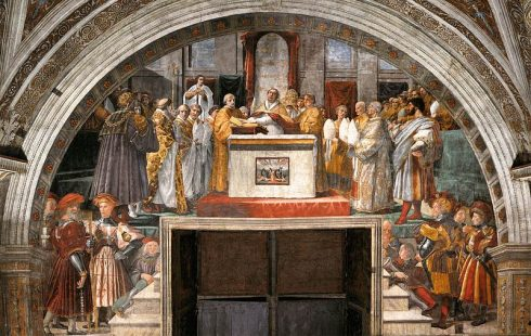 The Oath of Pope St. Leo III, painting by Raphael.