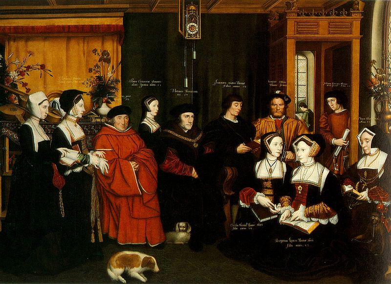 St. Thomas More and his family, painting by Rowland Lockey.