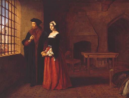 St. Thomas More and his daughter Margaret in his prison