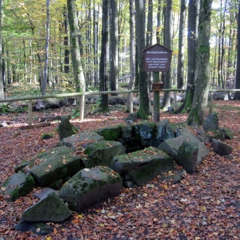 In the Vogelsberg mountains of the province of Hessia, where St. Boniface preached and baptized in the 8th century.