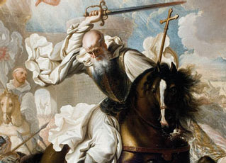 St. Raymond of Fitero, the Cistercian warrior abbot & founder of the Military Order of Calatrava.