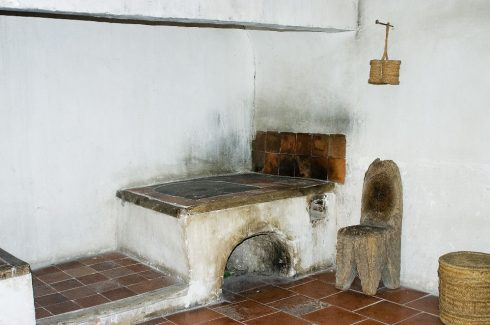 The kitchen he used when staying here is still preserved.