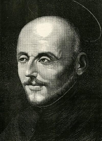 St. Ignatius of Loyola, Engraving by Sanchez Coello