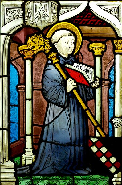 Stained glass representing St. Bernard of Clairvaux. Upper Rhine, ca. 1450.