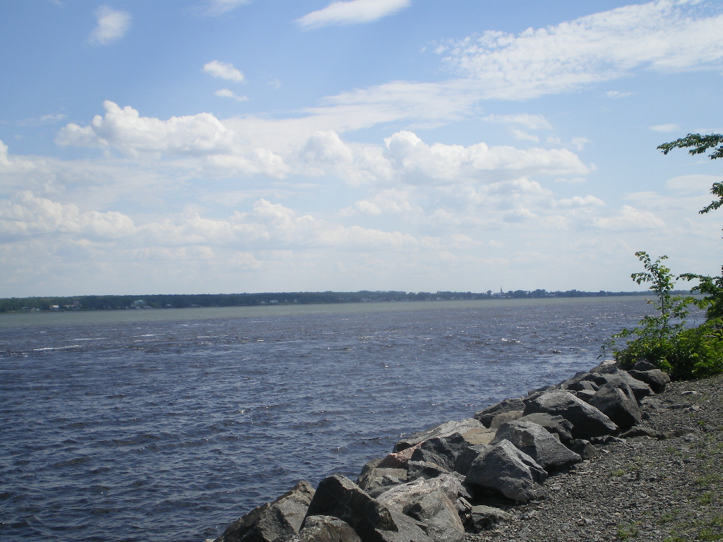 St. Lawrence River at Trois-Rivières, Canada