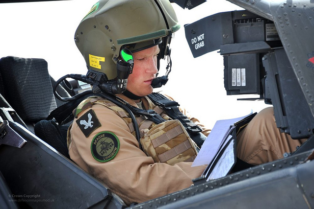 Prince Harry training as an Apache pilot in the U.S.