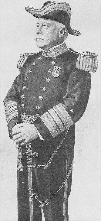 Admiral George Dewey, US Navy, was a member of The Order of the Founders and Patriots of America.
