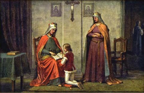 St. Wenceslaus with his Mother, Princess Drahomíra & Grandmother St. Ludmila