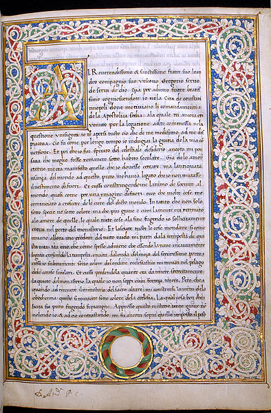 Manuscript from Morals on the Book of Job, at The Walters Art Gallery, Baltimore.