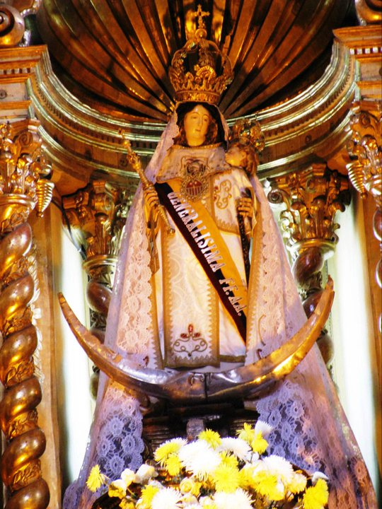 Our Lady of Mercy, General of the Ecuadorian Armed Forces. This statue is in Quito, Ecuador.