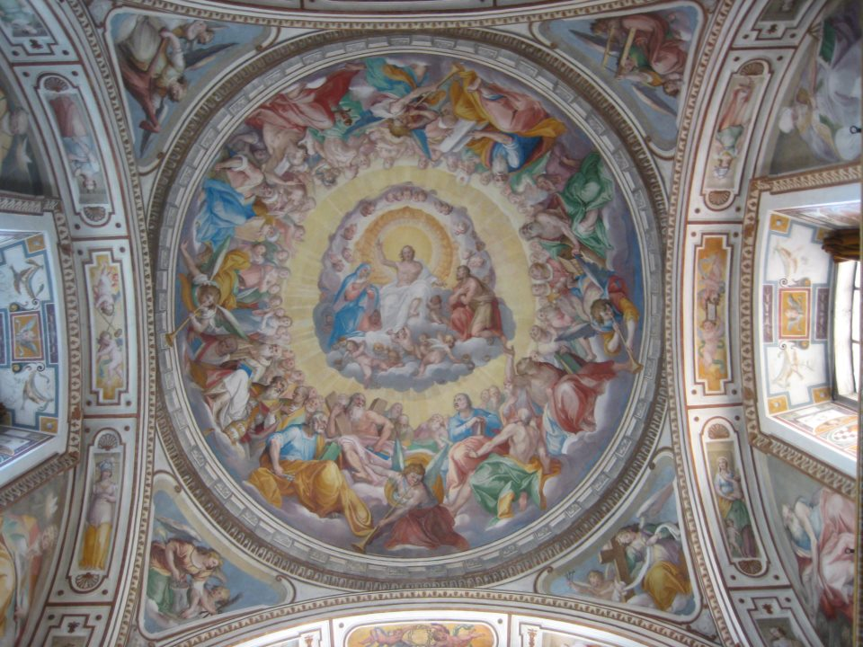 Side chapel ceiling of San Gregorio Magno al Celio in Rome.