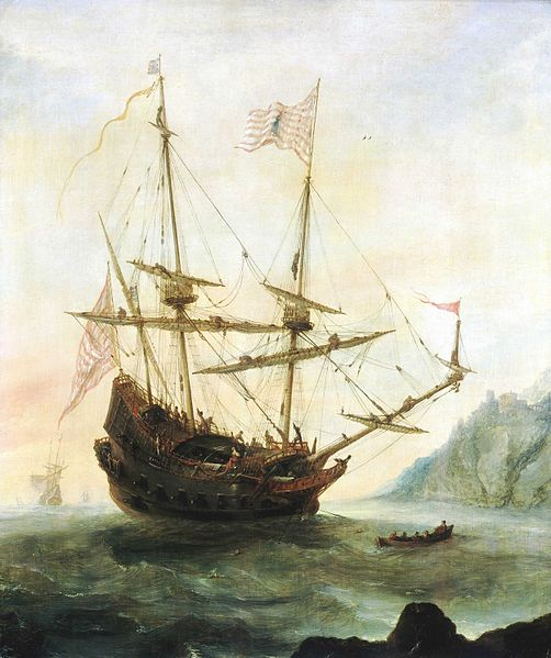 Painting of the Santa Maria by Andries van Eertvelt