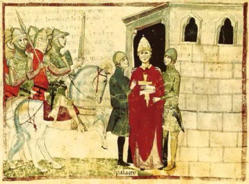 Arresting Pope Boniface VIII
