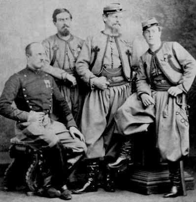 The four de Charette brothers, three of whom served in the Pontifical Zouaves, and one as a Papal Dragoon.