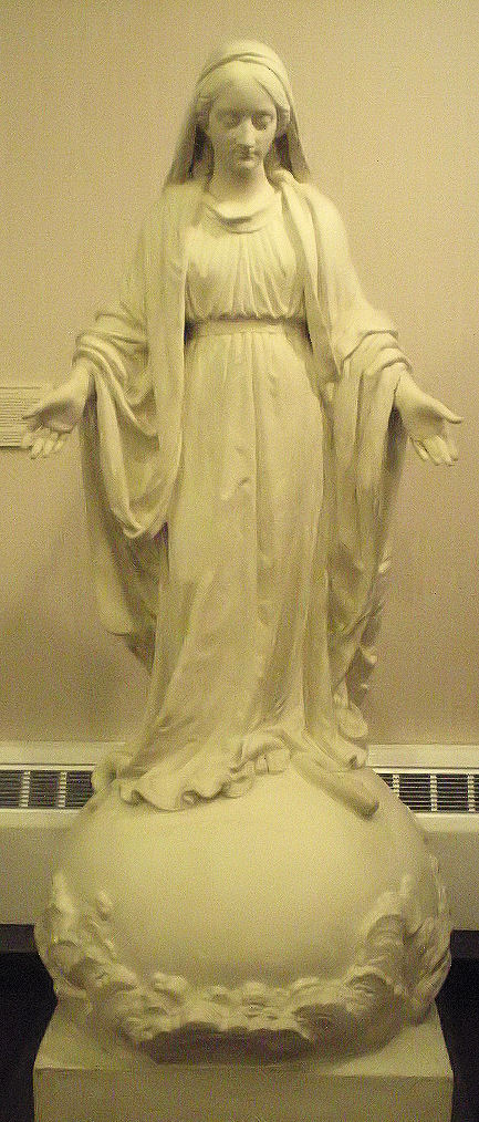 This is the statue that Monsieur Claude Marie Perrault de la Bertaudière sent to Mother Théodore Guérin. It is currently in the museum at Saint-Mary-of-the-Woods.