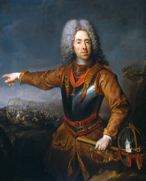 Prince Eugene of Savoy. Painting by Jacob van Schuppen
