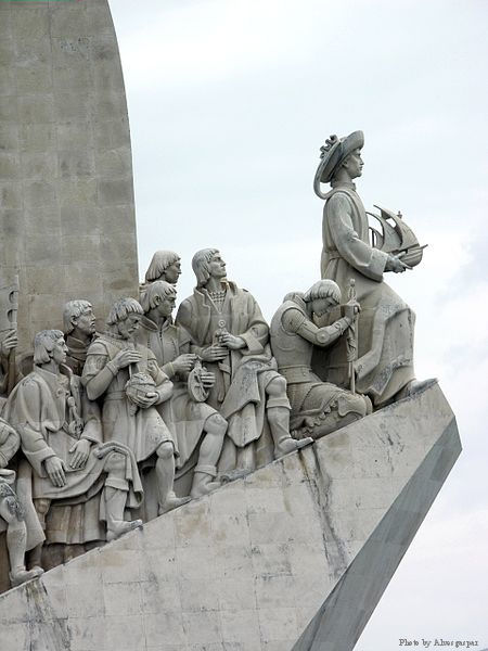 Padrão dos Descobrimentos. Monument to the Portuguese maritime discoveries in Lisbon. This monument commemorates 500 years since the death of Prince Henry the Navigator and honors 15th and 16th century Portuguese explorers.