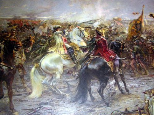 Battle of Zenta 1697, detail of the painting by Ferencz Eisenhut.