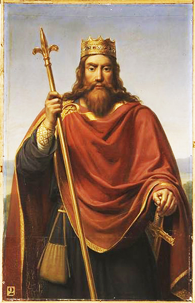 Painting of Clovis by François-Louis Dejuinne