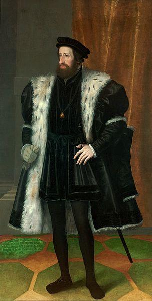 Ferdinand I, Holy Roman Emperor. Painting by Hans Bocksberger der Älter