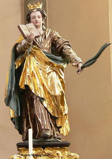 Statue of Saint Odilia in Austria