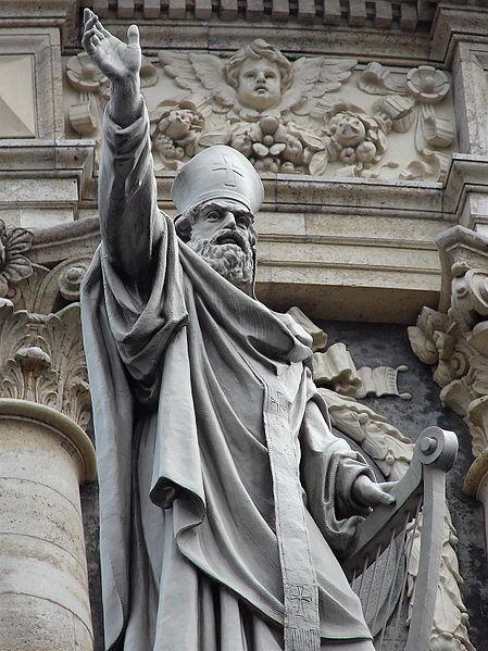Statue of St. Ambrose in Copenhagen