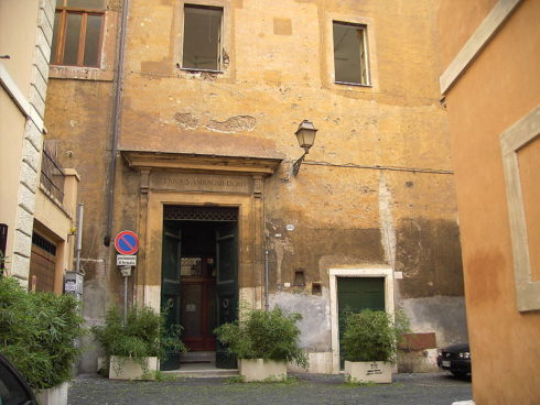 The house of St. Ambrose in Rome.