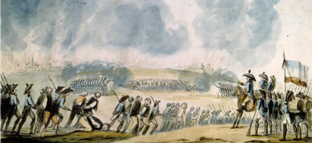 Shootings at Nantes, 1793, watercolor by a witness