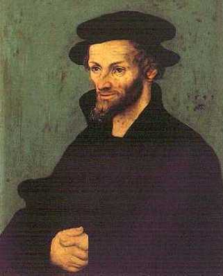St. Peter Canisius fought against the German Protestants, John Calvin and Philipp Melanchthon.