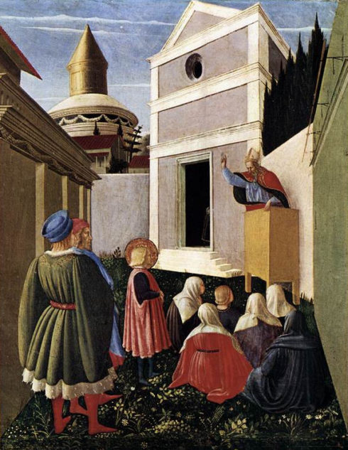 The Vocation of St Nicholas Painting by Bl Fra Angelico