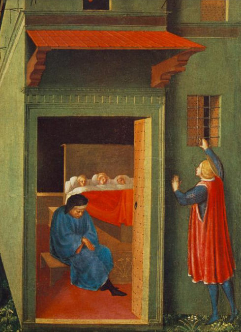 St Nicholas Giving Dowry to Three Poor Girls, Painting by Bl. Fra Angelico
