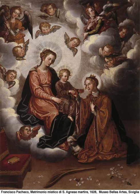 The mystical nuptial of St. Agnes