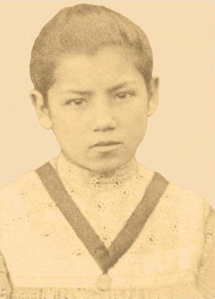 School photo of Bl. Laura del Carmen Vicuña Pino.