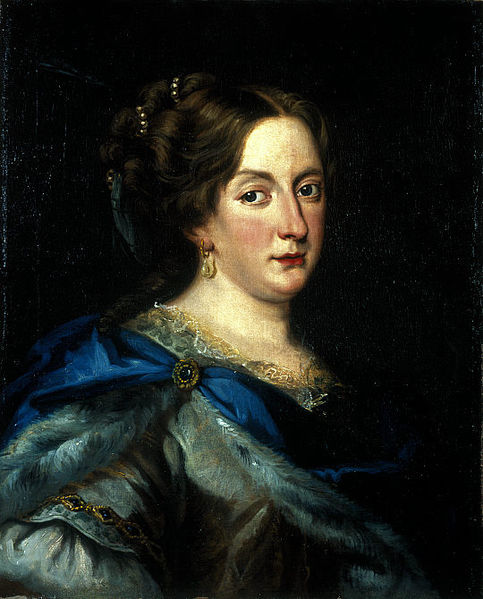 Painting by Jacob Ferdinand Voet of Christina, Queen regnant of Sweden from 1633 to 1654.
