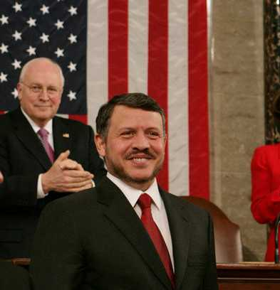 King Abdullah II of Jordan as he prepares to address a Joint Meeting of Congress, Tuesday, March 7, 2007 at the U.S. Capitol.