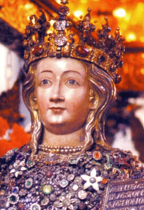 The reliquary bust of St. Agatha in Catania. She is the patron of that city and each year her feast is celebrated from February 3 -5.