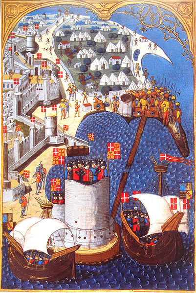 Siege of Rhodes. In 1480, with an army of 500 knights and 2,000 soldiers the Knights Hospitaller withstood an army of 70,000 Turks of the Ottoman Empire.