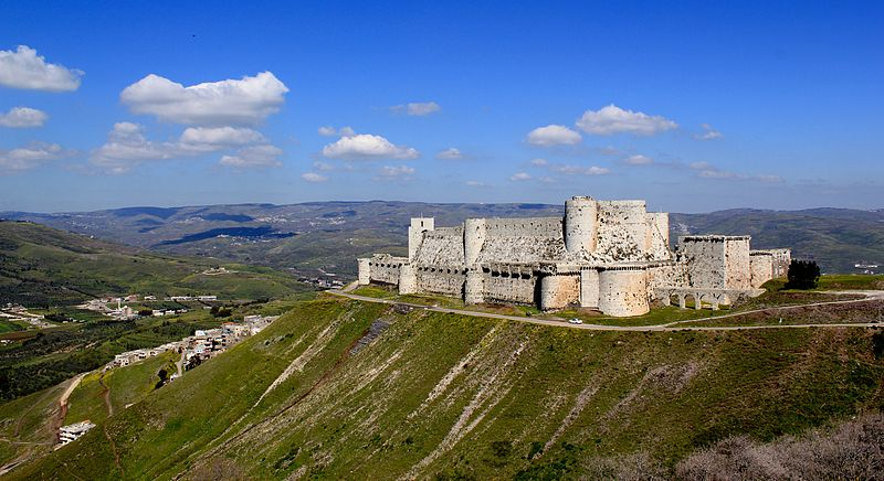 Krak des Chevaliers Castle by Nev1. In 1142 it was given by Raymond II, Count of Tripoli, to the Knights Hospitaller.