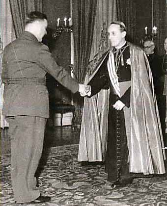 Archbischop of Zagreb Bl. Alojzije Stepinac meets Ante Pavelic