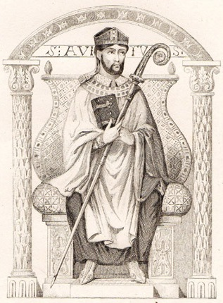 St. Avitus of Vienne, drawn by Vernier and engraved by Lemaitre, 1845