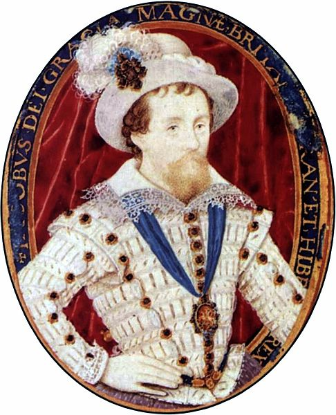 Portrait of James VI and I by Nicholas Hilliard