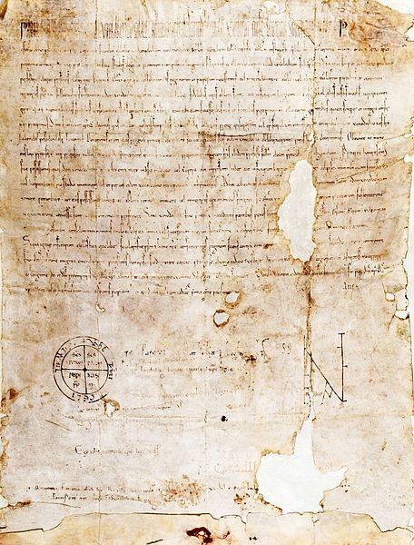 Papal bull Pie Postulatio Voluntatis confirming the foundation of the Knights of Malta