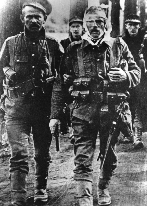British and Belgian soldiers during the Battle of Mons in 1914