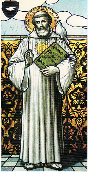 St. Columbanus founder of the Luxeuil Abbey.