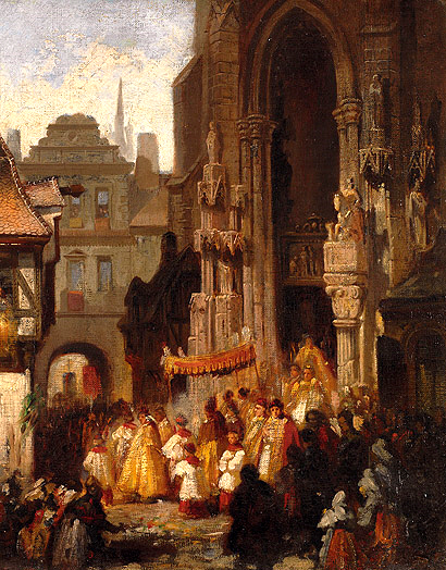 Corpus Christi Procession. Painting by Carl Emil Doepler